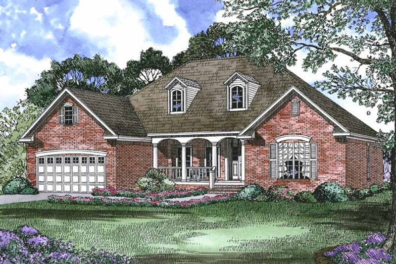 Dream House Plan - Country Exterior - Front Elevation Plan #17-2797