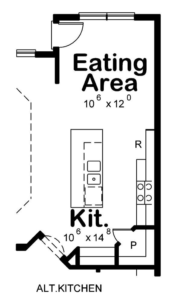 House Plan Design - Alt. Kitchen