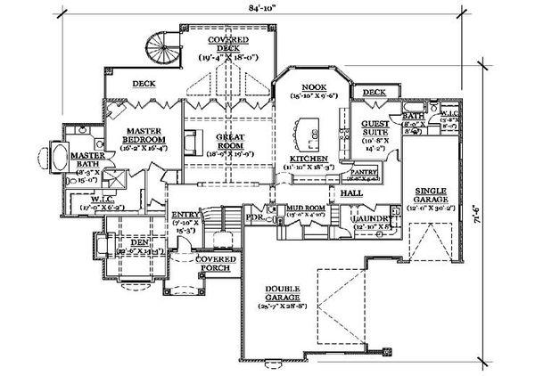 European Floor Plan - Main Floor Plan Plan #5-316