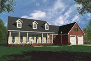 Country Style House Plan - 3 Beds 3 Baths 2100 Sq/Ft Plan #21-105 Exterior - Front Elevation