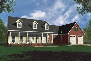 Country Exterior - Front Elevation Plan #21-105