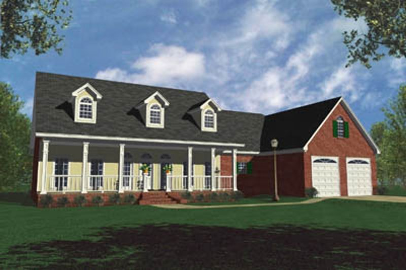 Architectural House Design - Country Exterior - Front Elevation Plan #21-105