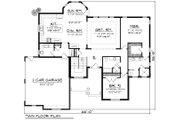 Ranch Style House Plan - 2 Beds 2 Baths 1943 Sq/Ft Plan #70-1166 Floor Plan - Main Floor Plan