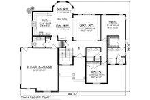 Ranch Floor Plan - Main Floor Plan Plan #70-1166