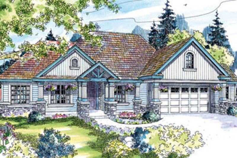 Craftsman Exterior - Front Elevation Plan #124-643