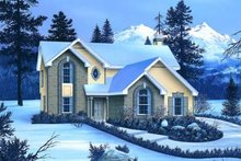 Dream House Plan - European Exterior - Front Elevation Plan #57-166