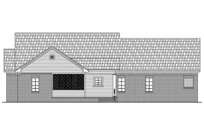 Country Exterior - Rear Elevation Plan #21-145 - Houseplans.com