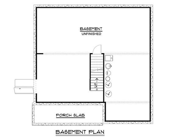 Home Plan - Cottage Floor Plan - Lower Floor Plan #1064-22