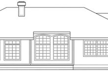Home Plan - Modern Exterior - Rear Elevation Plan #124-150