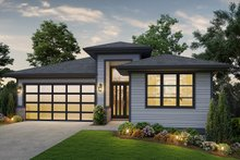 Dream House Plan - Contemporary Exterior - Front Elevation Plan #48-961