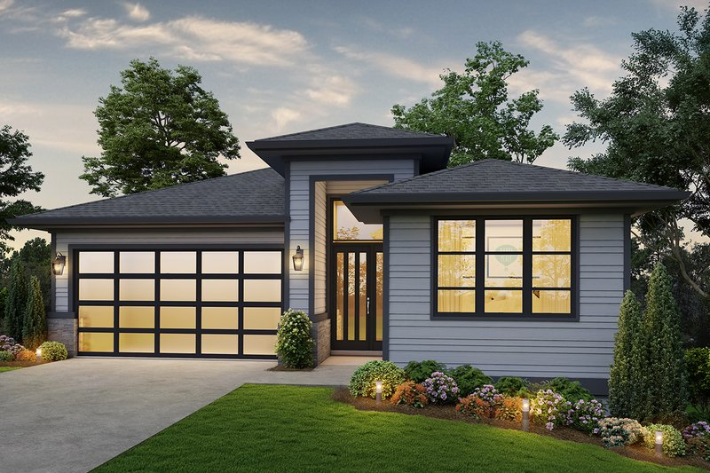 Home Plan - Contemporary Exterior - Front Elevation Plan #48-961