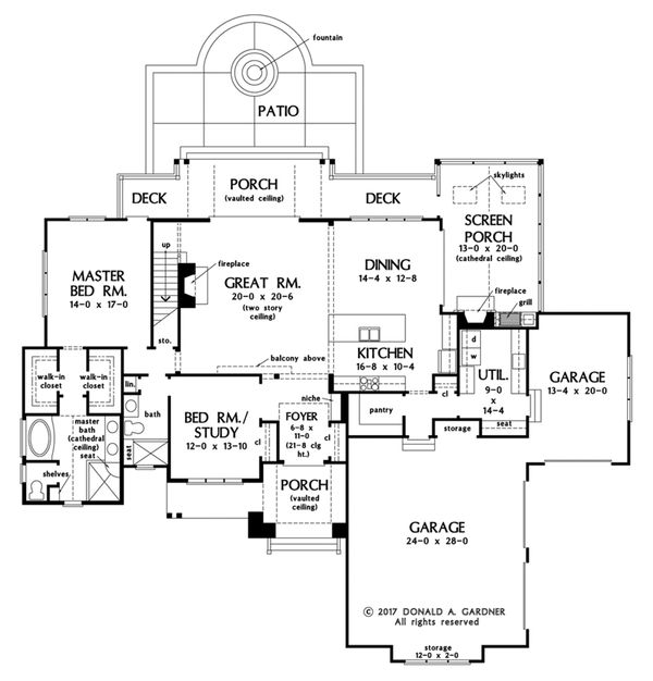 Farmhouse Floor Plan - Main Floor Plan Plan #929-1063