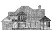 Traditional Style House Plan - 3 Beds 3 Baths 2923 Sq/Ft Plan #930-11 Exterior - Rear Elevation