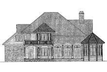 Dream House Plan - Traditional Exterior - Rear Elevation Plan #930-11