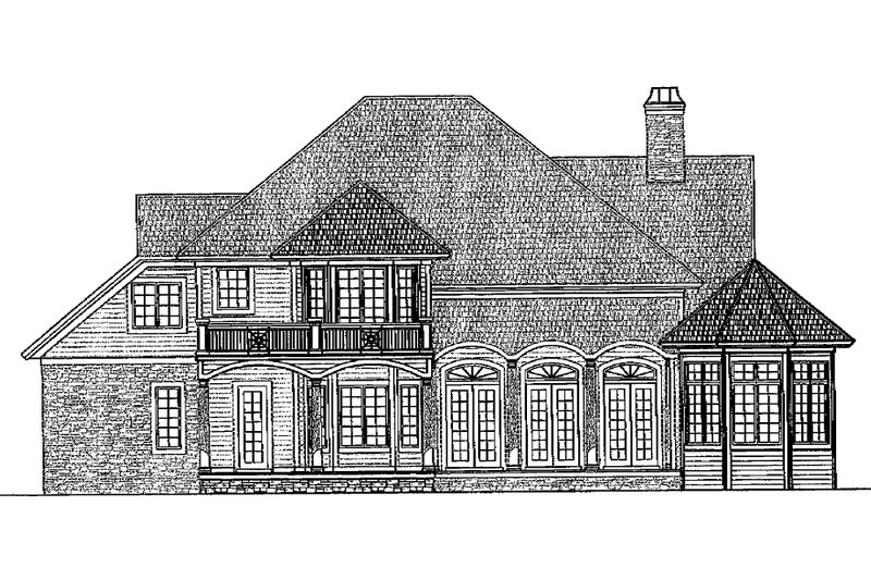 Traditional Exterior - Rear Elevation Plan #930-11 - Houseplans.com