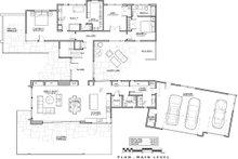 Contemporary Floor Plan - Main Floor Plan Plan #892-23