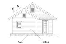 Cottage Exterior - Rear Elevation Plan #513-2181