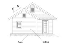Cottage Exterior - Rear Elevation Plan #513-2181
