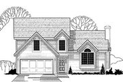 Traditional Style House Plan - 3 Beds 2 Baths 1340 Sq/Ft Plan #67-121 Exterior - Front Elevation