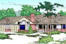 Dream House Plan - Ranch Exterior - Front Elevation Plan #60-217