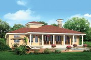 Mediterranean Style House Plan - 3 Beds 2.5 Baths 2191 Sq/Ft Plan #930-12 Exterior - Rear Elevation