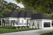 European Style House Plan - 2 Beds 2 Baths 1146 Sq/Ft Plan #23-2489 Exterior - Front Elevation