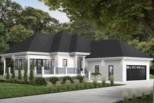 European Exterior - Front Elevation Plan #23-2489