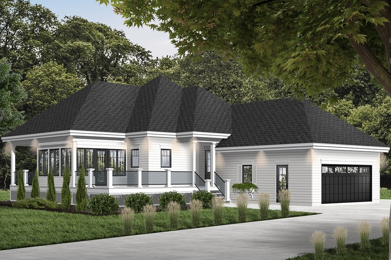 European Style House Plan - 2 Beds 2 Baths 1146 Sq/Ft Plan #23-2489
