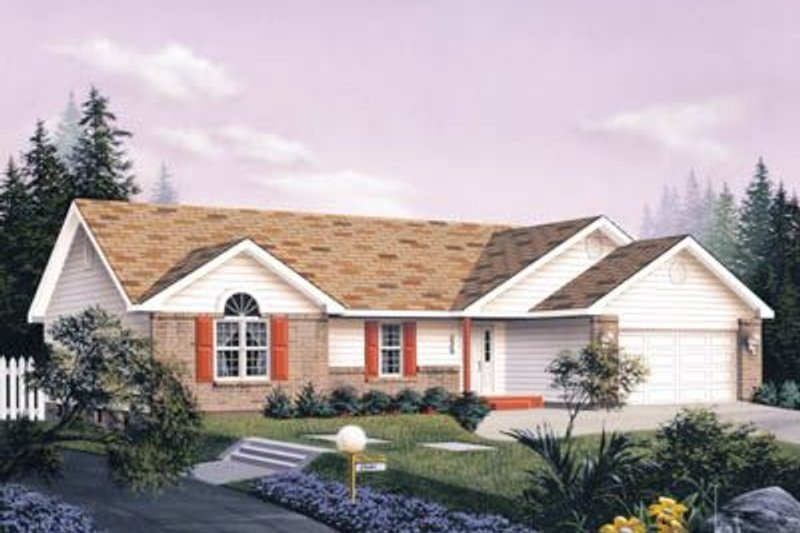 Traditional Exterior - Front Elevation Plan #57-115 - Houseplans.com