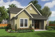 Cottage Exterior - Rear Elevation Plan #48-575