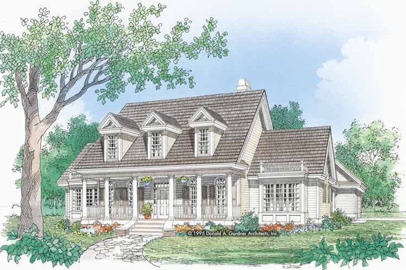 Home Plan - Country Exterior - Front Elevation Plan #929-457