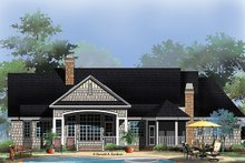 European Exterior - Rear Elevation Plan #929-966