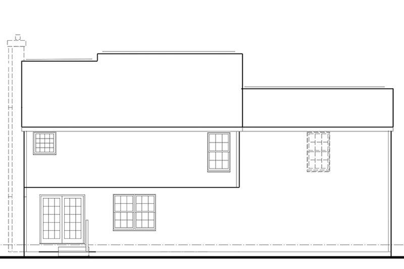 Colonial Exterior - Rear Elevation Plan #1053-66 - Houseplans.com