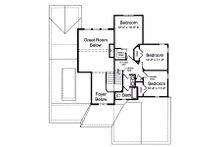 Craftsman Floor Plan - Upper Floor Plan Plan #46-891
