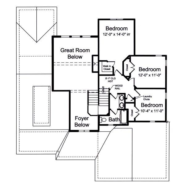 Craftsman Floor Plan - Upper Floor Plan #46-891