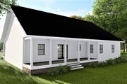 Traditional Style House Plan - 3 Beds 2 Baths 1611 Sq/Ft Plan #44-236 Exterior - Covered Porch