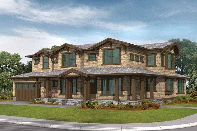 Craftsman Exterior - Front Elevation Plan #132-261 - Houseplans.com