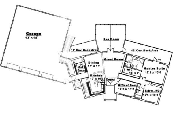 Traditional Floor Plan - Main Floor Plan Plan #117-831