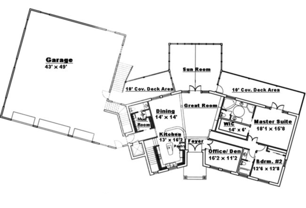 Traditional Floor Plan - Main Floor Plan Plan #117-831