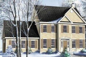 Colonial Exterior - Front Elevation Plan #25-4166