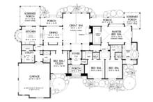 European Floor Plan - Main Floor Plan Plan #929-930