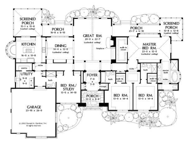European Floor Plan - Main Floor Plan Plan #929-930