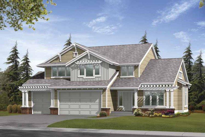 Craftsman Exterior - Front Elevation Plan #132-363 - Houseplans.com