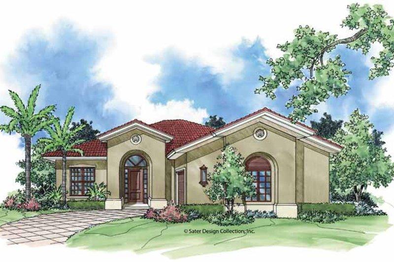 House Plan Design - Mediterranean Exterior - Front Elevation Plan #930-392