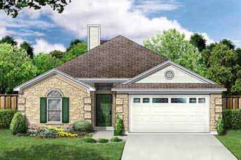 Traditional Style House Plan - 3 Beds 2 Baths 1404 Sq/Ft Plan #84-201 Exterior - Front Elevation