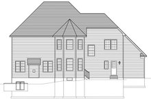 House Plan Design - Traditional Exterior - Rear Elevation Plan #1010-172