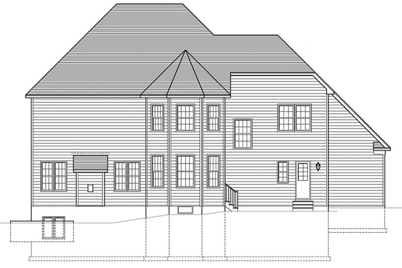 Traditional Exterior - Rear Elevation Plan #1010-172 - Houseplans.com