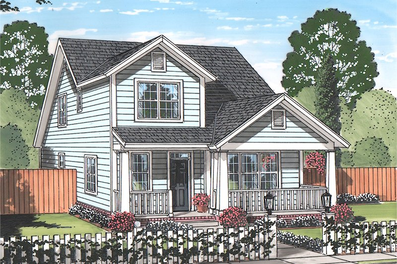 Country Exterior - Front Elevation Plan #513-2163