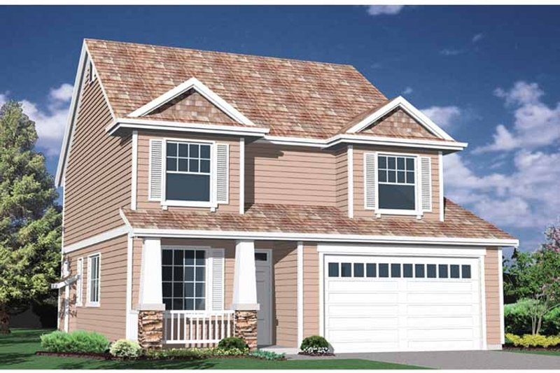 Traditional Exterior - Front Elevation Plan #509-231 - Houseplans.com