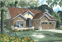 House Design - Mediterranean Exterior - Front Elevation Plan #17-2920